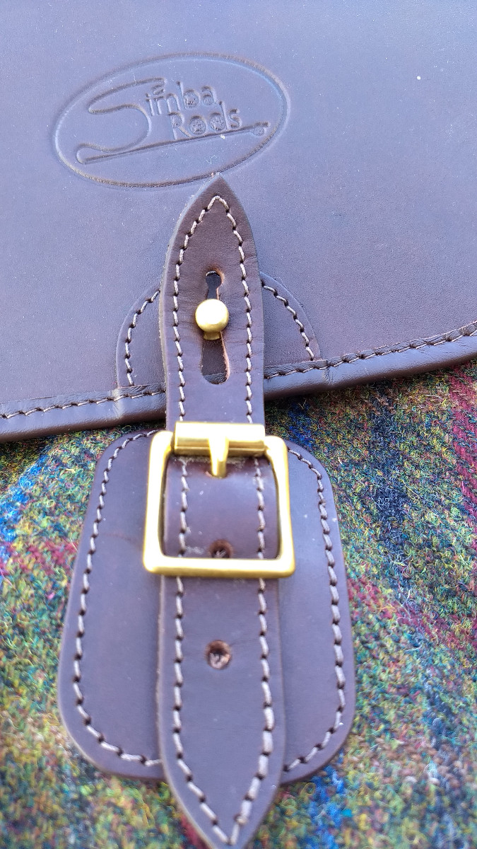 Highland Harris Tweed backpack detail