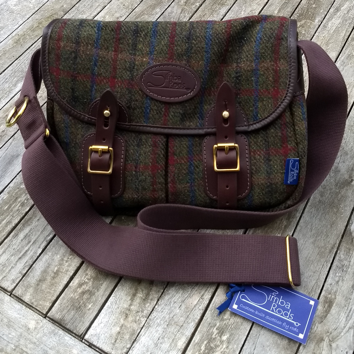 "Strathearn 12"" Harris Tweed bag"