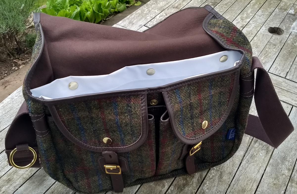 """Strathearn 16"""" Harris Tweed bag with waterproof liner"""