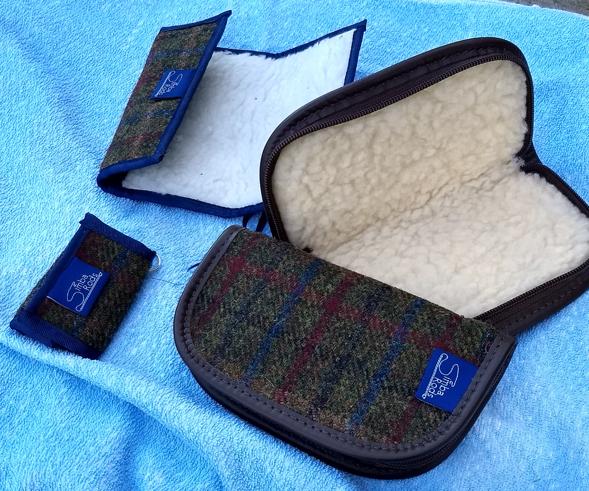 Harris Tweed fly wallets